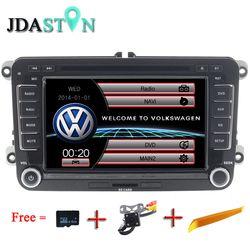JDASTON 2 DIN 7 Pouce Voiture DVD GPS Radio Pour Volkswagen VW Skoda Passat B6 Polo De Golf 4 5 Touran Sharan Jetta Caddy T5 Tiguan Bora