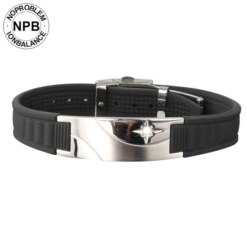 Noproblen 007 ion balance antifatigue tour de cou thérapie de puissance bracelet hologramme tourmaline germanium colliers