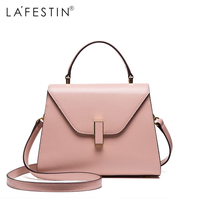 LAFESTIN Women Handbag Versatile Genuine Leather Shoulder Bag Designer Luxury Multifunction Brands Crossbody Bag Bolsa