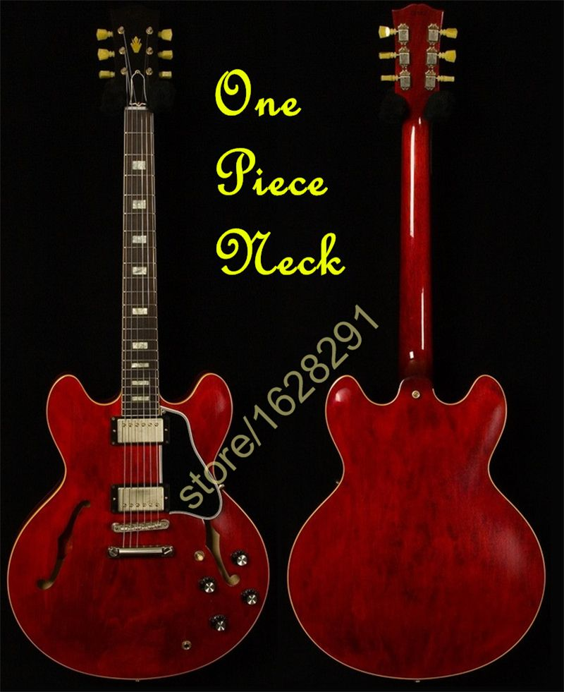 Hot Selling Red ES 335 Electric Guitarra Hollow Body China Guitar One Piece Neck Free Shipping