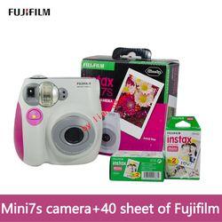 original mini 7S camara instantanea fujifilm+film 40 Instant Film Photo Camera Blue and Pink appareil photo instax Free Shipping
