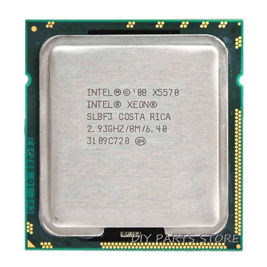 INTEL XONE X5570 CPU INTEL X5570 PROCESSEUR Quad core 2.933 MHZ LeveL2 8M à 4 conducteurs POUR lga 1366 carte mère