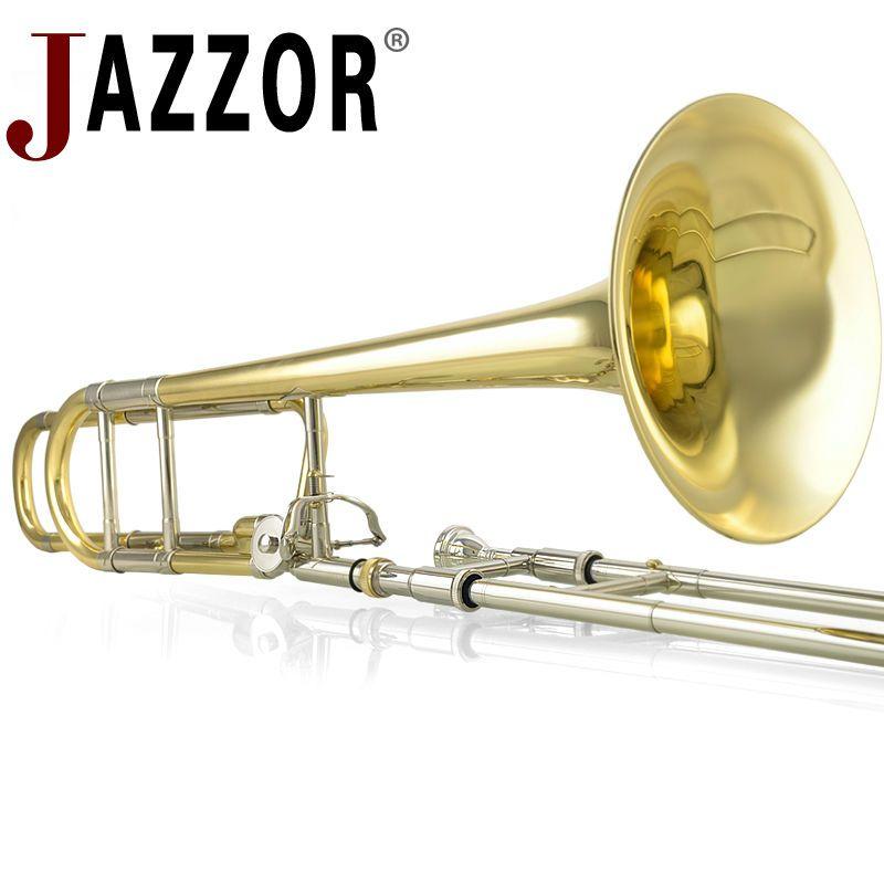 JAZZOR JBSL-801 tenor posaune B/F wohnung professionelle weiß kupfer posaune mit dem mundstück mit fall, handschuhe, gold messing wind