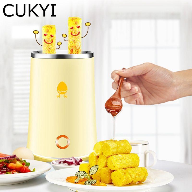 CUKYI 140 watt Elektrische Haushalts Automatische rising doppel Ei Rolle Maker Kochen Werkzeug Ei Tasse Omelett Master Wurst Maschine Gelb