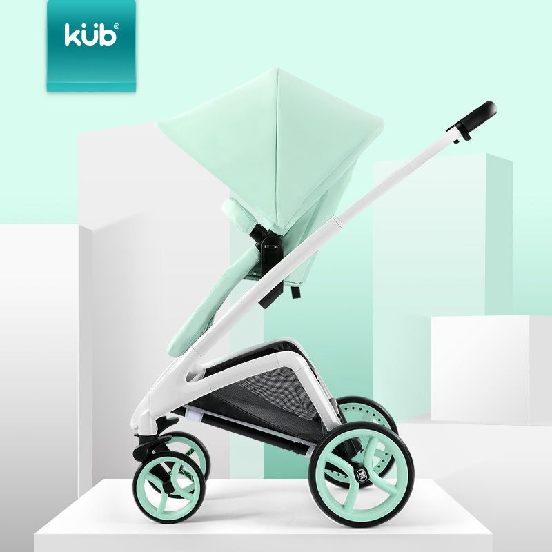 KUB baby stroller high landscape light folding can take a baby trolley