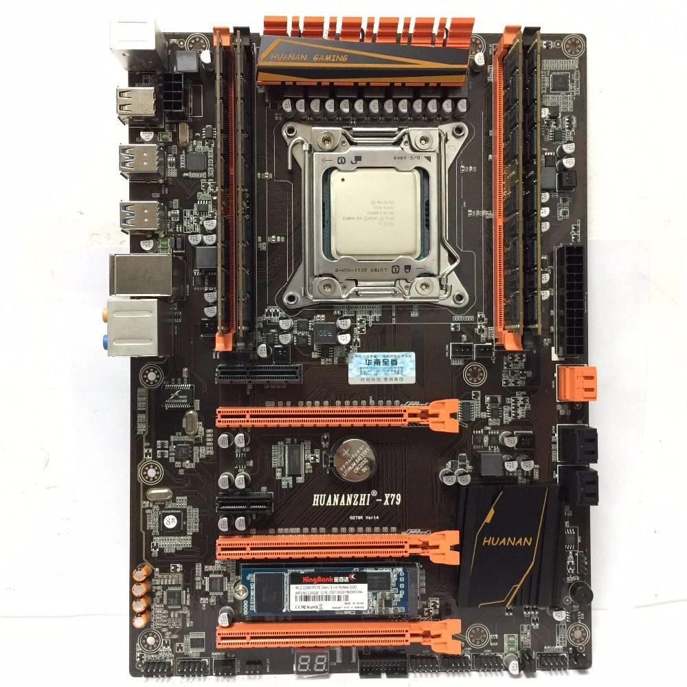 Neue ankunft! HUANAN ZHI X79 LGA 2011 satz motherboard Xeon E5 2680 V2 RAM 32 gb (4X8 gb) DDR3 1600 mhz ECC REG 120g M.2 SSD