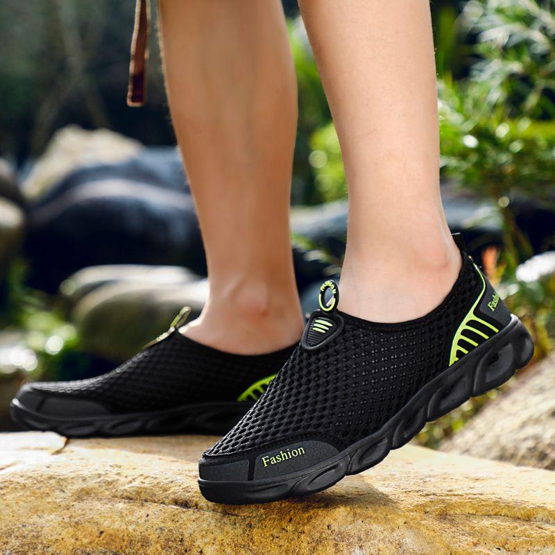 MAISMODA chaussures d'eau pour hommes femmes en plein air plage antidérapant Aqua chaussures Super léger pas cher en gros ruisseau en amont