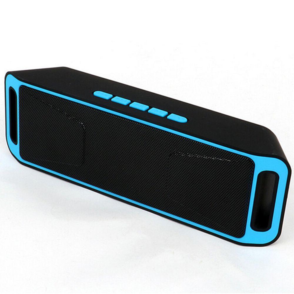 Portable Bluetooth haut-parleur sans fil mini haut-parleur amplificateur stéréo Subwoofer haut-parleur TF USB FM Radio intégré micro double basse SP208
