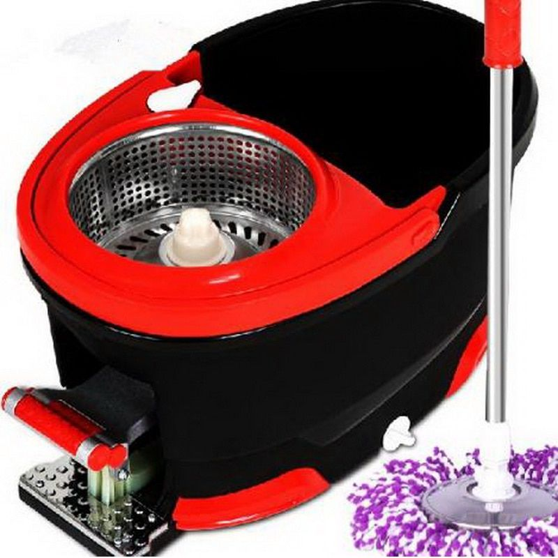 150601/Living home cleaning tools Stainless steel magic Spin Mop Explosion-proof double rotating rotary 360 Degree mop Bucket