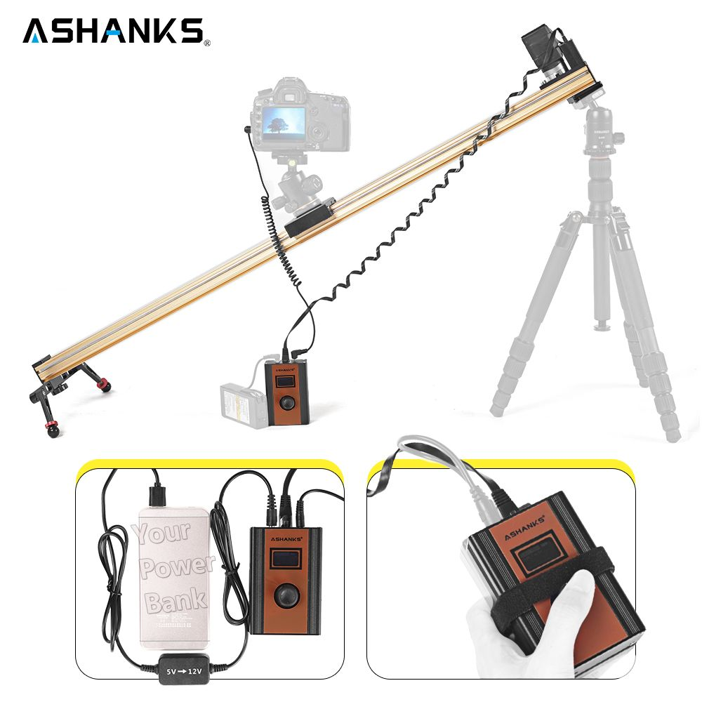 ASHANKS Aluminum Motorized Camera Slide Electric Control Timelapse Delay Dolly Track Rail Slider for Photography Pro Timelapse