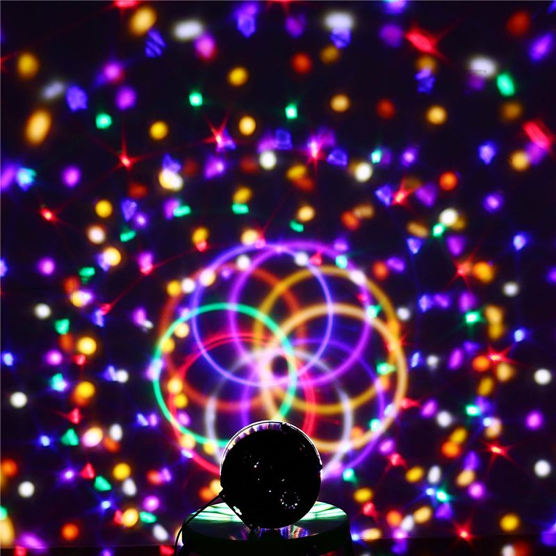 9 Цвета 27 Вт хрустальный магический шар лампы Светодиодные этап 21 режимов дискотека лазерного света партии звук Управление Новогодние това...