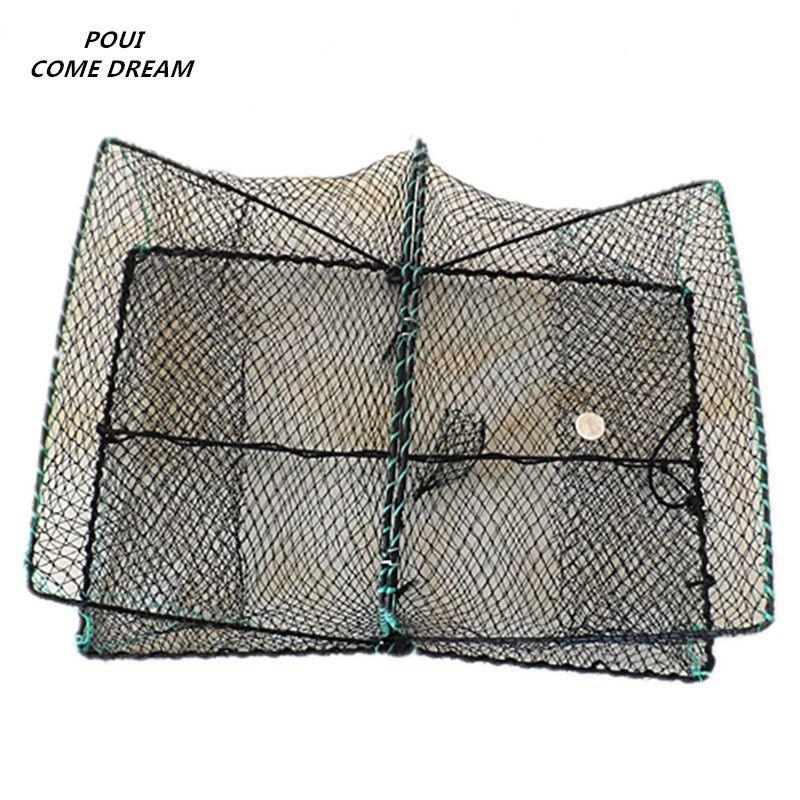 60 cm Klapp käfig Elastische Krabben käfig Cocktail Crawler Käfig Fischernetz Schildkröte Käfig pesca angeln netzwerk angeln zubehör