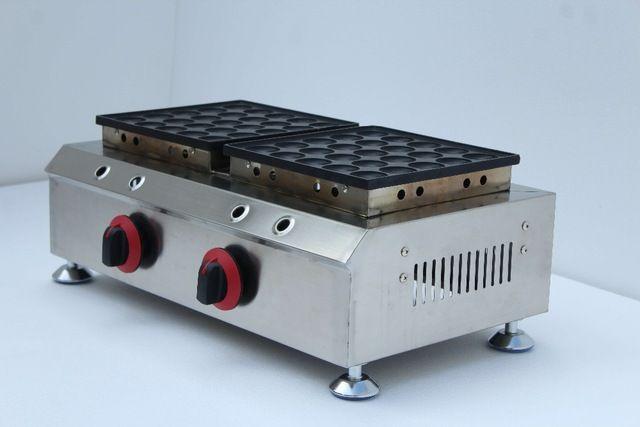 Kostenloser Versand Gas tye 50 Löcher Poffertjes Grill antihaft Pfannkuchen Maker Poffertjes Baker Maker Eisen Maschine