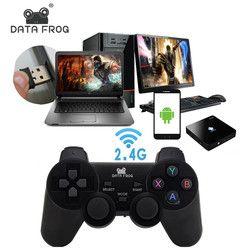 Данных лягушка 2,4 г Android геймпад Совместимость с ПК с Windows PS3 ТВ коробка Android-смартфон игра джойстик