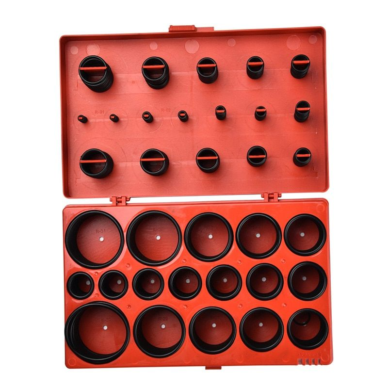 419pcs Universal O Ring Metric <font><b>Washer</b></font> Seals Watertightness Assortment Kit for Automotive Mechanics O-ring Rubber Silicone Gasket