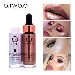 O.TWO.O Iluminador líquido para maquillaje, corrector de brillo de rostro, gotas de bronceado brillante muy concentradas