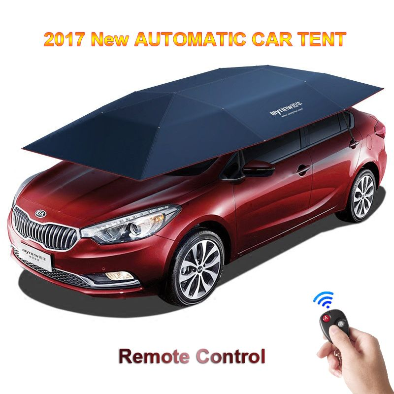 2017 New Automatic Car Tent With Remote Control Anti-UV WindWindproof Sun Shelter Umbrella Awning Tent For Car DHL Free Shipping