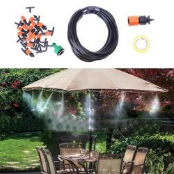 10m Adjustable Garden Watering System  Automatic Watering Irrigation System 15 Sprinkler Plant Grass Irrigation System NEW
