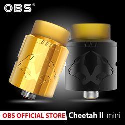 Original OBS Cheetah II Mini RDA 22mm tanque rda atomizador e-cigarrillos reconstruible Dripping freestyle bobina vaporizador Vape