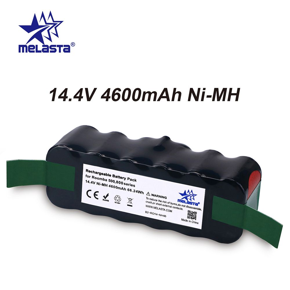 Melasta Classical 4.6Ah 14.4V NIMH battery for iRobot Roomba 500 600 700 800 Series 510 530 550 560 610 620 650 770 780 790 870