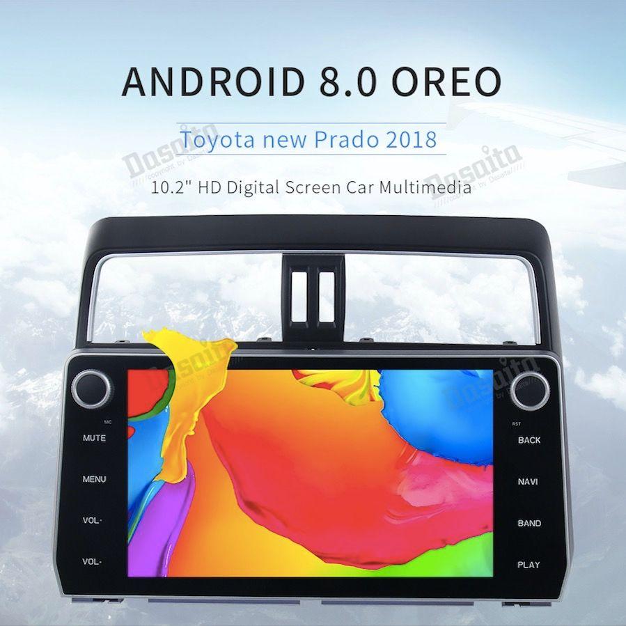 Car Android 8.0 GPS for Toyota Prado 2018 autoradio navigation head unit multimedia with external microphone 4Gb+32Gb 8-Core