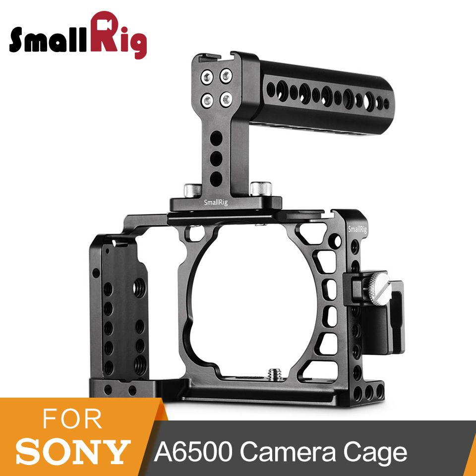 SmallRig Protective Camera Cage a6500 With Top Handle+HDMI Cable Clamp For Sony A6500/A6300 Dslr Cage Rig Set -1968