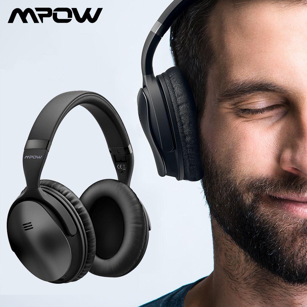 Écouteurs Bluetooth sans fil Mpow H5 d'origine casque antibruit actif ANC avec sac de transport pour tablette TV Smartphone