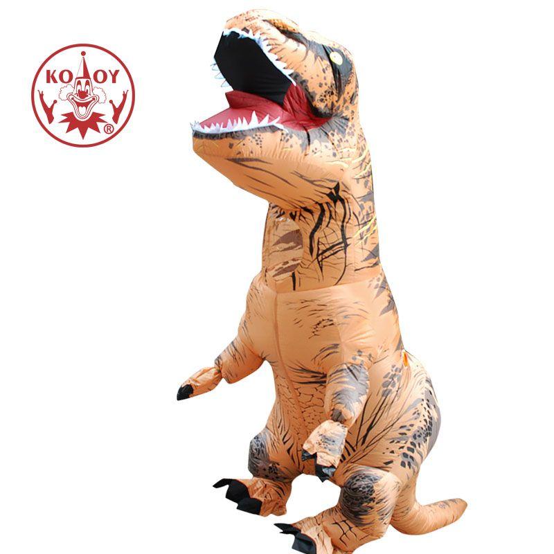 Adult Halloween Cosplay T REX inflatable Dinosaur Costume Dino Jumpsuit Fancy Dress Halloween Costume for Women Men
