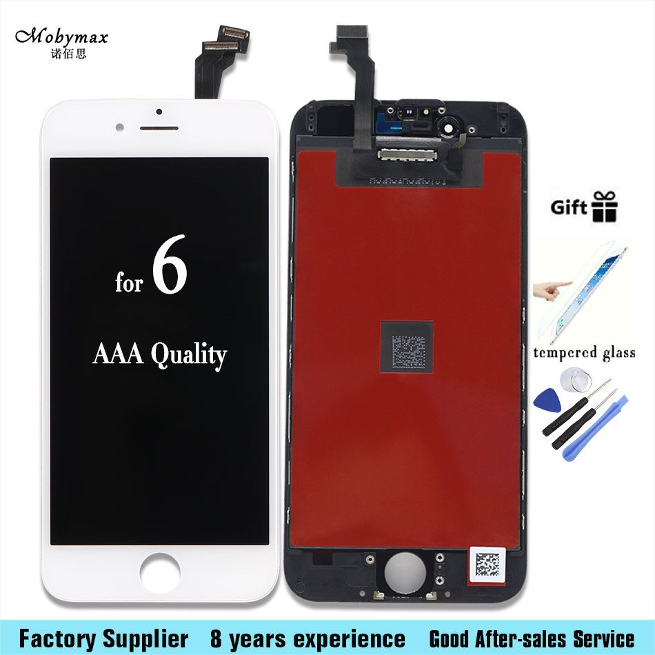 Mobymax All Test for iPhone 4s 5 6 6 plus 6s LCD Display Touch Screen Digiter Replacement 100% No dead pixels+tools+glass film