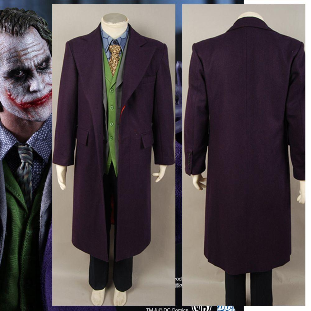 Volle Set dark knight Joker Kostüme Batman Dark Knight Aufstieg Arkham Asylum Joker Cosplay Kostüm