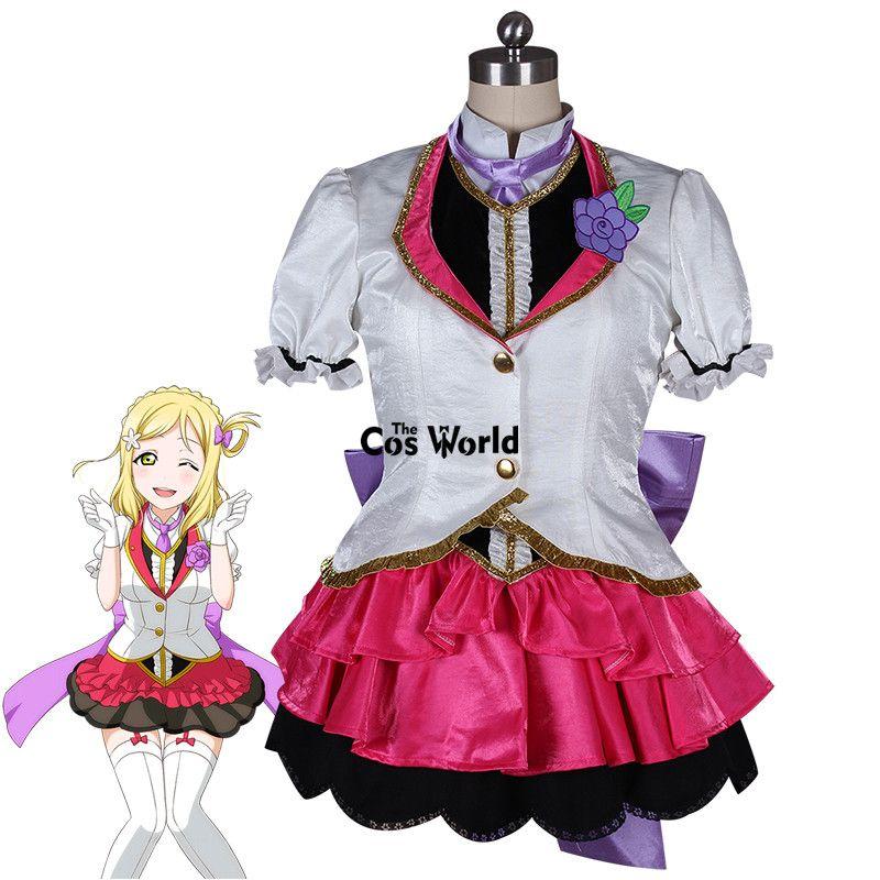 Liebe Live Sonnenschein Aqours Mari Ohara Mirai Ticket Mantel Shirt Weste Kleid Uniform Outfit Anime Cosplay Kostüme