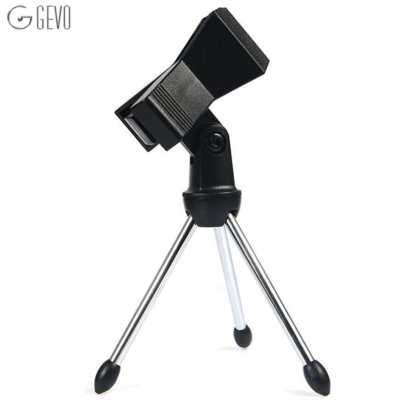 Microphone Stand Adjustable Microphone Stand Foldable Mic Clamp Clip Holder Stand Metal Tripod For BM 800 Condenser Microphone