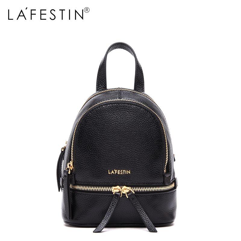 LAFESTIN Brand Leather Backpack Women Mini Backpacks Casual Teenager Girls High Quality School Bags Female Mochilas