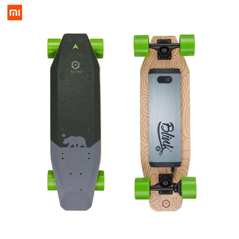 In-Stock Xiaomi ACTON Wireless Remote Control Smart Electric Skateboards LED Light 12 Km Endurance for 16 to 50 Year Old