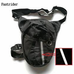 2018 motocicleta Funny gota cinturón bolsa Fanny Pack cintura bolso cinturón Packs Nylon paquetes de la cintura bolsa de pierna impermeable Waistpack al por mayor