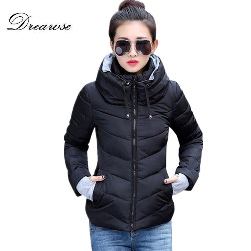 Dreawse Fashion Coat Women Winter Wadded Jacket New Outerwear Short Jacket Female Padded Parkas Overcoat Warm Coat MC1095