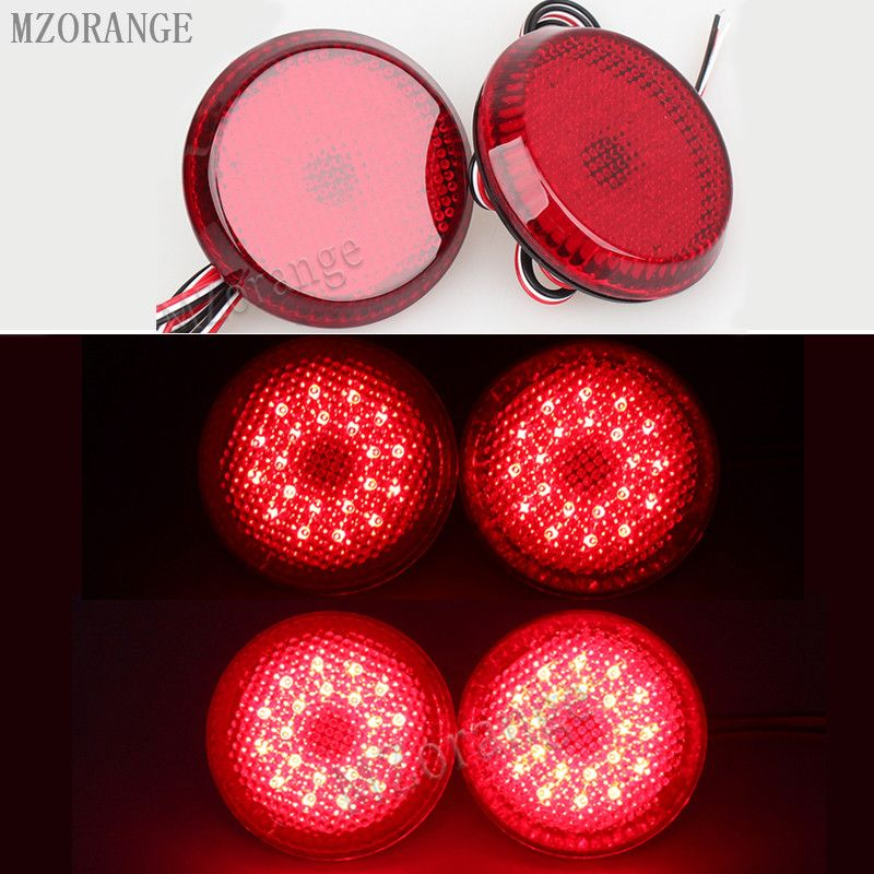 2 PCS 6.8 cm Car Tail Rear Bumper Reflector Lamp Round For Nissan/Qashqai/for Toyota Sienna/Corolla Scion Trail <font><b>Brake</b></font> Stop Light