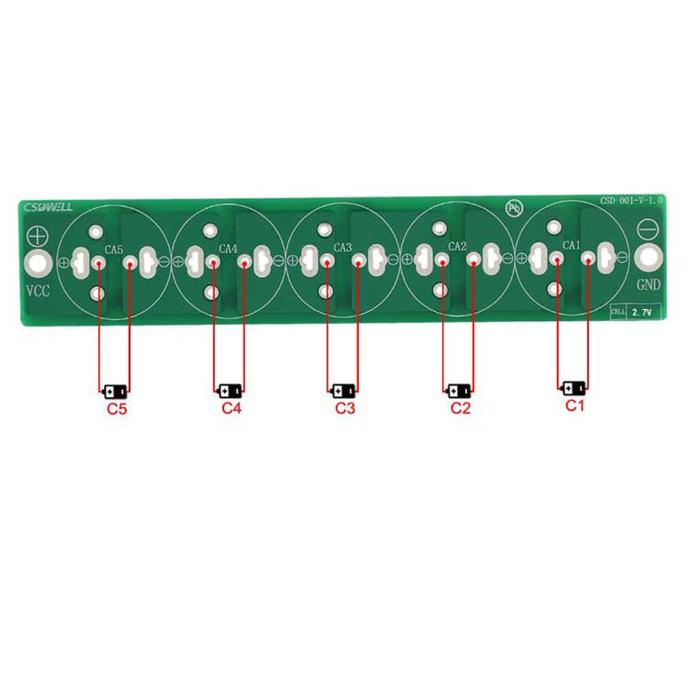 CNIKESIN 5 series ultracapacitors are linking piece Super capacitor balance sheet Protective plate electric tool capacitor plate