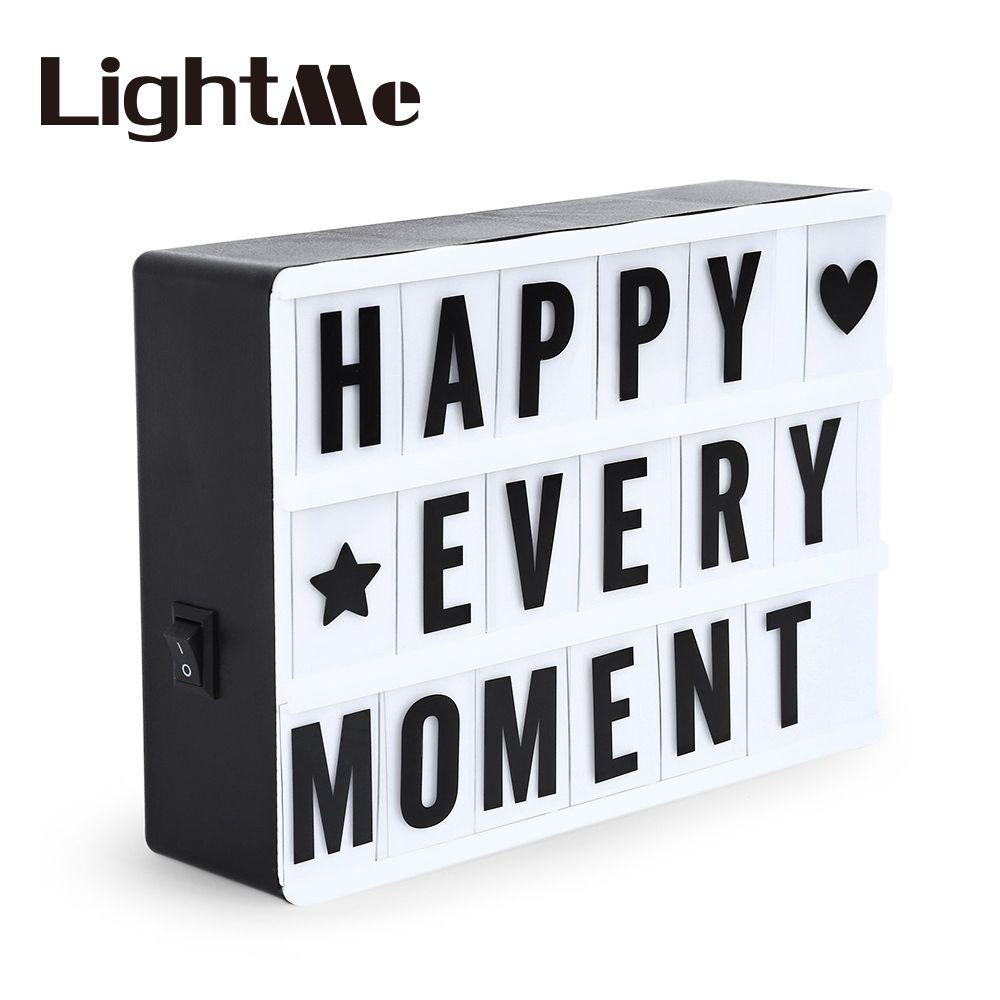 2017 Premuim A4 A6 Combination LED Night Light Box Night Lamp DIY BLACK Cards Letter Light LED USB PORT Powered Cinema Lightbox