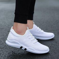 Empuje principal tendencia marca blanco baratos hombres calzado verano moda Zapatilla Hombre transpirable Slip-on zapatos ocasionales ligeros