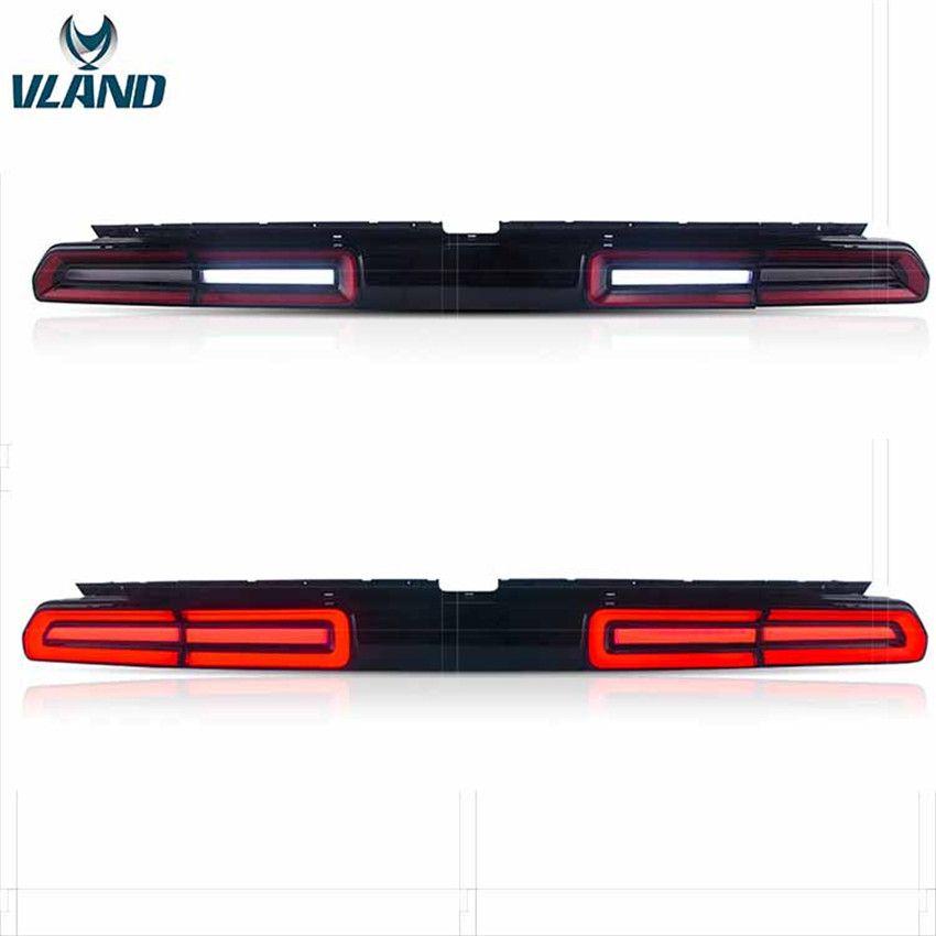 VLAND Fabrik auto zubehör Schwanz lichter für Challenger 2008 2010 2014 mit sequentielle anzeige + DRL + Reverse + Bremse