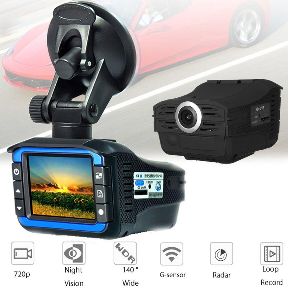 2-in-1 Radar Laser Speed Detector Car DVR Recorder 720P HD Video Dash Camera Built-in G-sensor Support Night Vision