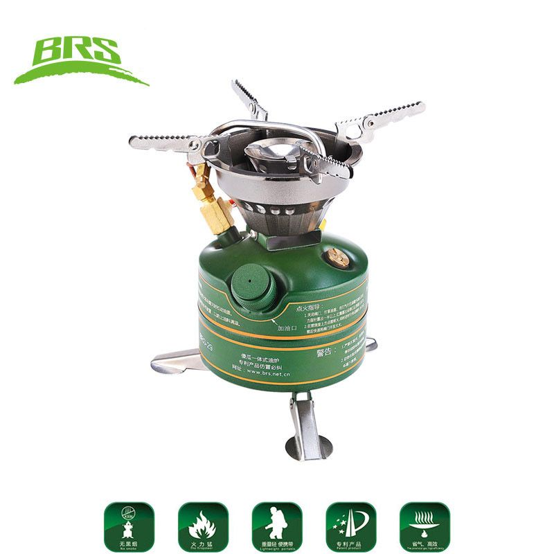 BRS Camping Stove Portable Non-preheating Gasoline Oil Fuel Stove For Outdoor Hiking Fishing Picnic Field Operations Cooker
