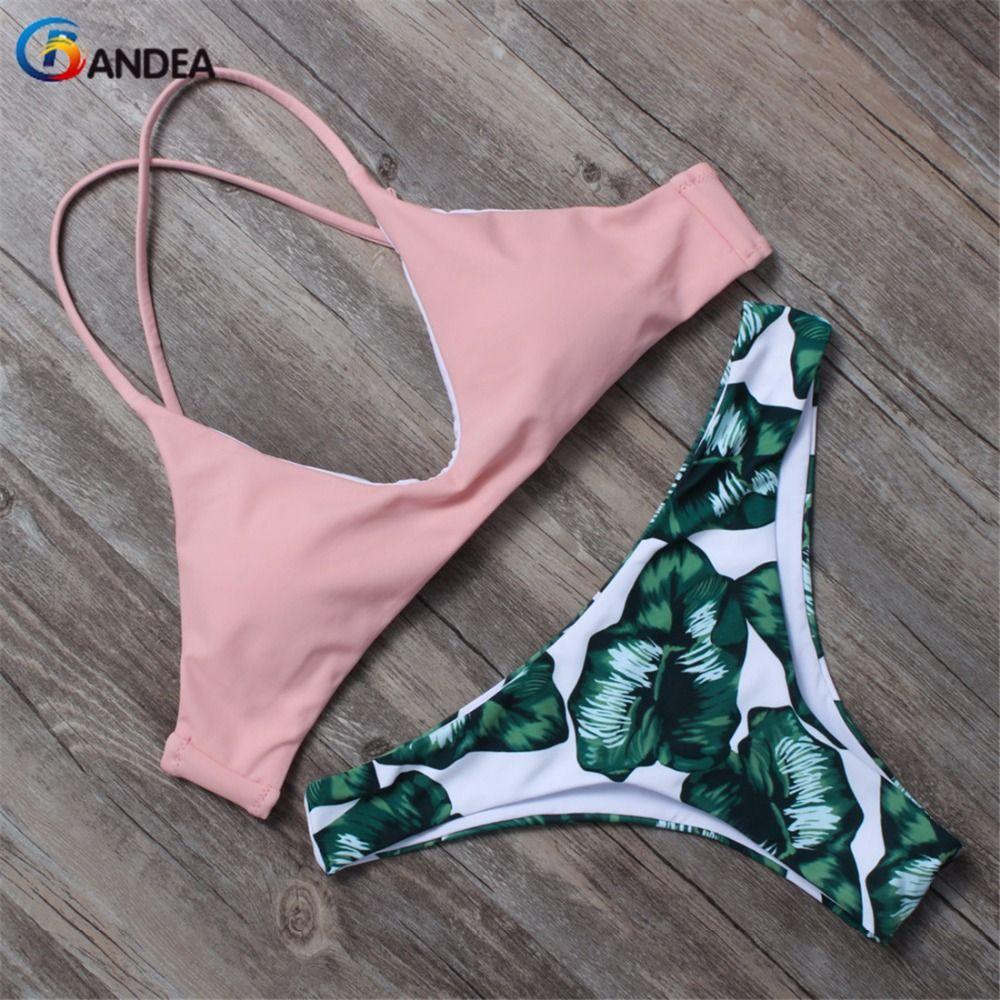 BANDEA women bikini set brazilian bikini 2017 swimwear women padded swimsuit biquini halter swimwear bikinis de las mujeres