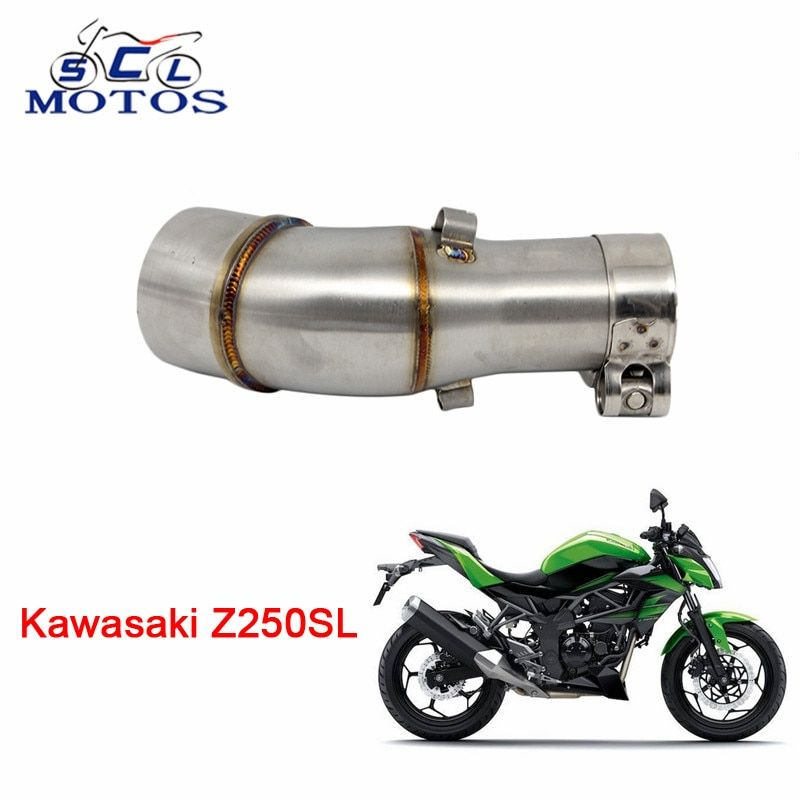 Sclmotos -Z250SL Motorcycle Exhaust Muffler Pipe Connector Adapter Clamp for Kawasaki Z250SL without Exhaust Racing