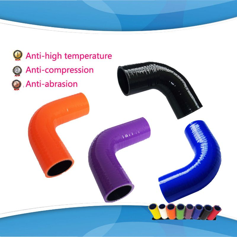 (1pc) ID:22mm 25mm 28mm 30mm 90 Degree Standard Elbow silicone hose  Coupler Turbo Intake Hose