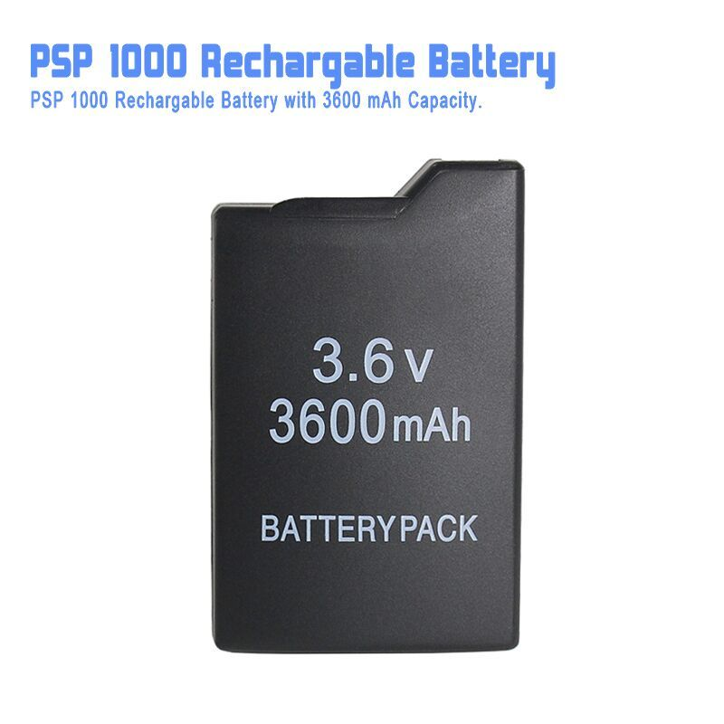 Game accessories for PSP Rechargable Battery ( <font><b>3600</b></font> mAh Capacity ) battery for PSP 1000 all versions