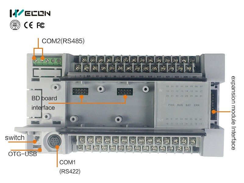 Wecon 32 points plc dcs automation system support Spanish PLC software