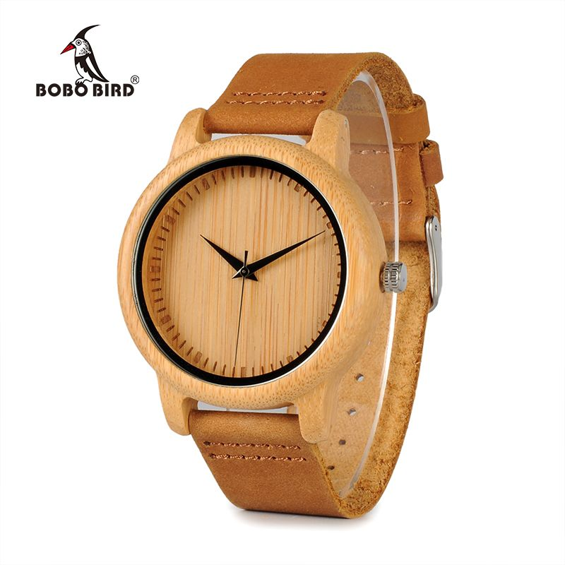 BOBO BIRD Timepieces Bamboo Watches Lovers Handmade Natural Wood Luxury Wristwatches <font><b>Ideal</b></font> Gifts Items Drop Shipping