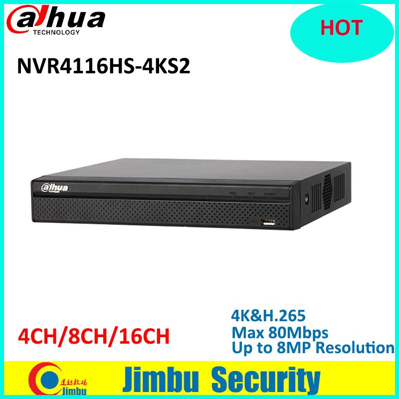 Dahua NVR 16Ch NVR4116HS-4KS2 1U 4K&H.265 Lite Network Video Recorder H.265/H.264 Up to 8MP HDMI/VGA simultaneous output